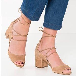 Sam Edelman Serene Lace Up Heeled Sandals